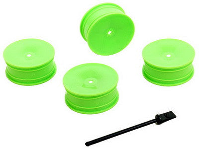 1/10 24MM TC WHEELS GREEN (4)