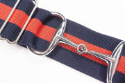 "Combination - 2"" Silver Snaffle Elastic Belt"