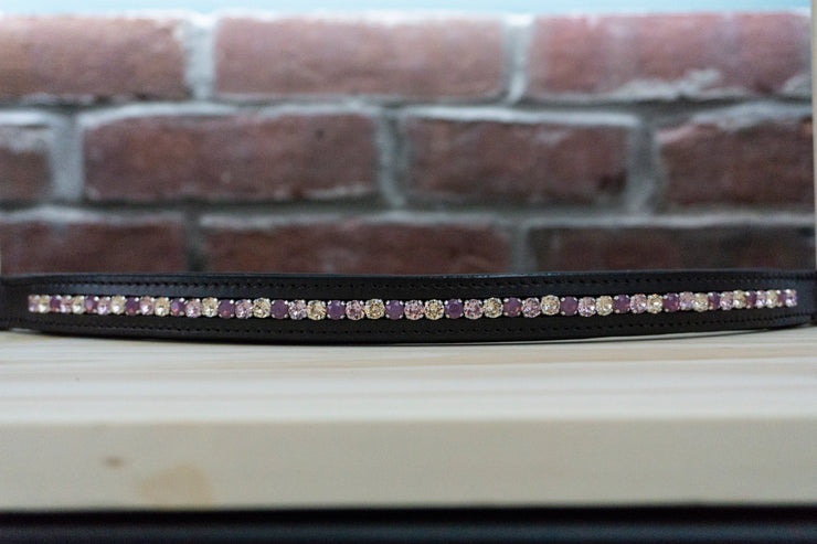 Purple and Beige - Chocolate Full Browband