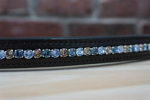 Greige and Blue - Black Full Browband