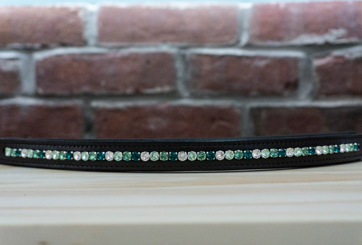 Green Streak Chocolate Full Browband
