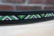 Kelly Green Triangles - Full Black Browband