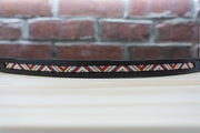 Red Triangles - Full Chocolate Browband