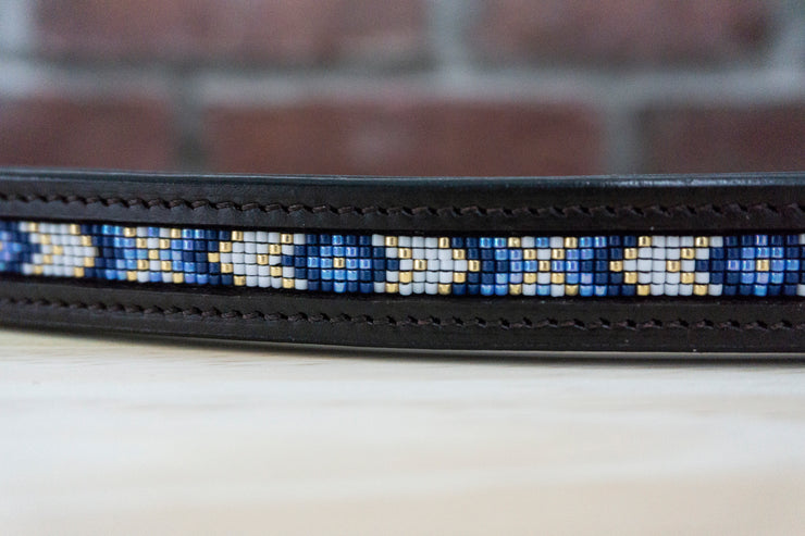 Blue Diamonds - Chocolate Full Browband