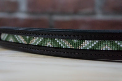 Green Triangles - Full Brown Browband