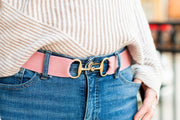 "Rose - 1.5"" Gold Snaffle Elastic Belt"