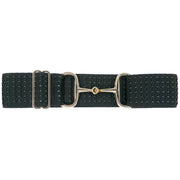 "Black Waves - 2"" Gold Snaffle Elastic Belt"