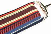 "Red, Yellow & Blue - 1.5"" Gold Snaffle Elastic Belt"