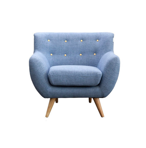 Blue Armchair - Workspace Luxe