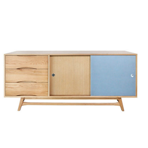 6ixty Sideboard (White/ Grey) - Workspace Luxe