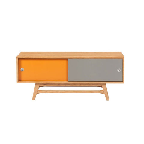 6ixty Small TV Unit (Orange/ Grey) - Workspace Luxe