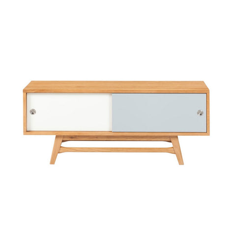 6ixty Small TV Unit (White/ Grey) - Workspace Luxe