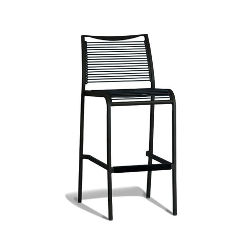 Aluminium Black Tall Stool (Set of 2) - Workspace Luxe