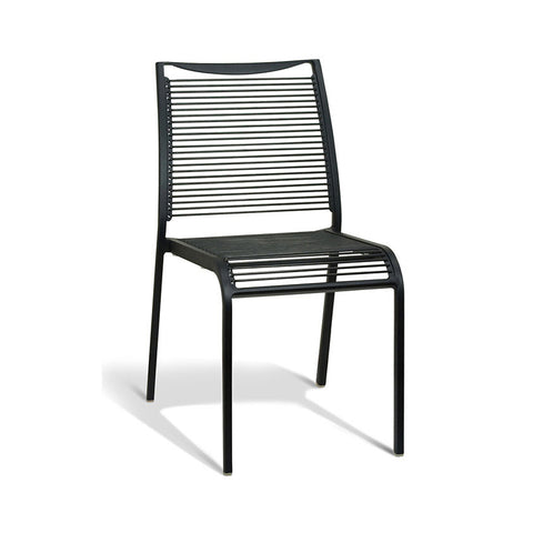 Aluminium Black Tube Chair (Set of 4) - Workspace Luxe