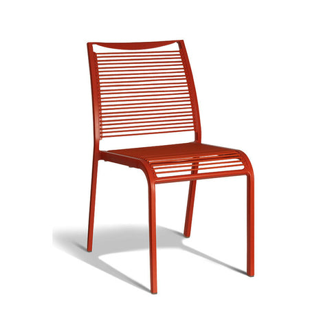 Aluminium Red Chair (Set of 4) - Workspace Luxe