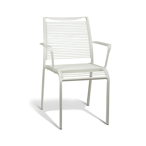 Aluminium White Armchair (Set of 4) - Workspace Luxe