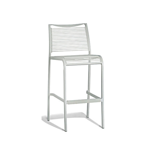 Aluminium White Tall Stool (Set of 2) - Workspace Luxe
