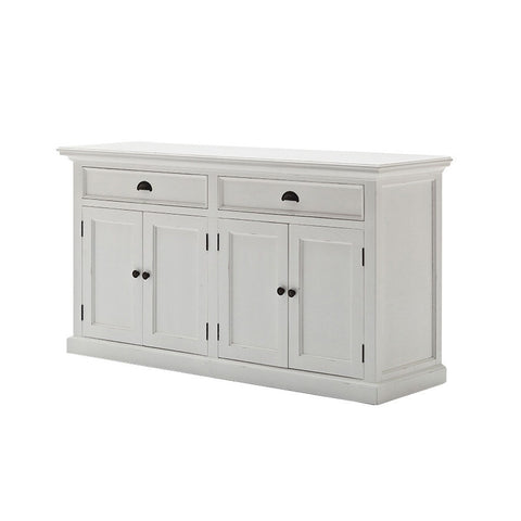 Hamptons Halifax White Storage Buffet with 4 Doors and 2 Drawers - Workspace Luxe