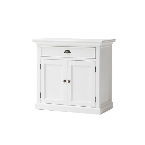 Hamptons Halifax Small White Storage Unit Drawer & Cupboards - Workspace Luxe