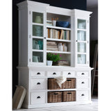 Hamptons Halifax White Timber Display & Storage Unit - Workspace Luxe