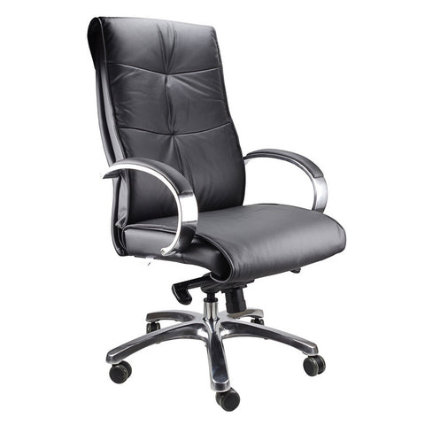 Belair Executive Black Leather Office Chair - Workspace Luxe