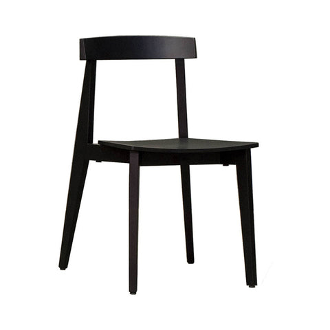 Black Ash Timber Chair Set (Set of 2) - Workspace Luxe