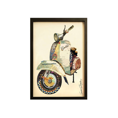 Collage Art Vespa - Workspace Luxe