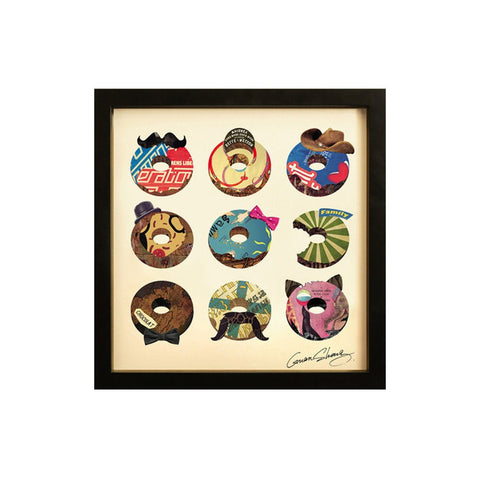 Collage Art The Usual Suspects-Doughnuts - Workspace Luxe