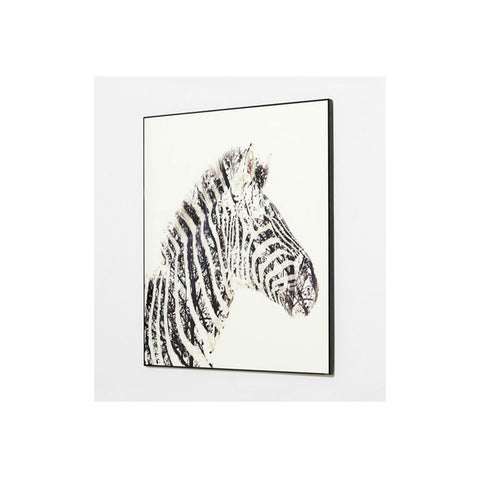 Crystal Art Zebra Portrait - Workspace Luxe