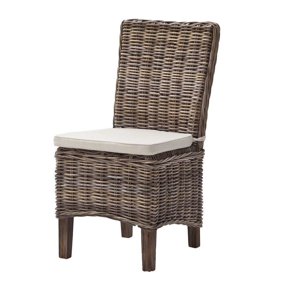 Halifax Morin Wicker Chair with Cushion x 2 - Workspace Luxe