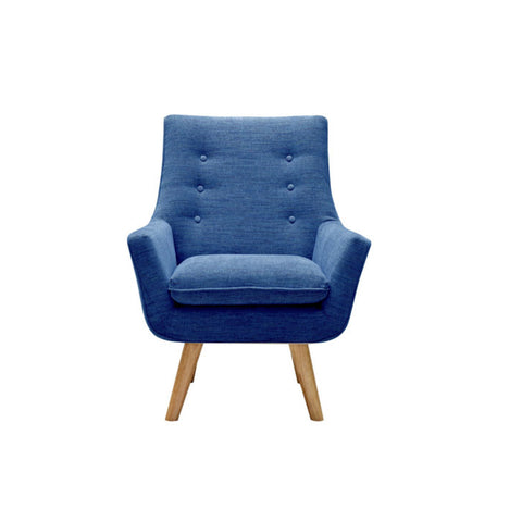Como Armchair (Blue) - Workspace Luxe