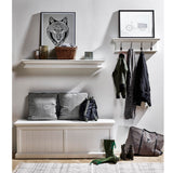 Hamptons Halifax White Timber Floating Shelf - 120mm - Workspace Luxe