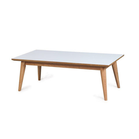 Dream Coffee Table Oak with White Top - Workspace Luxe