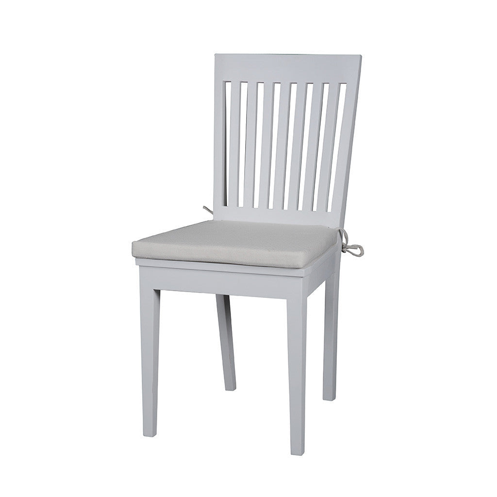 Hamptons Halifax White Timber Chair with Cushion x 2 - Workspace Luxe