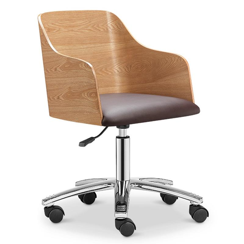 Designer Swivel Office Chair - Ash + Black - Workspace Luxe