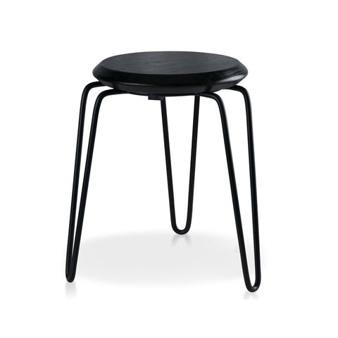Industrial Luxe Black Hairpin Stool 450mm (Set of 4) - Workspace Luxe