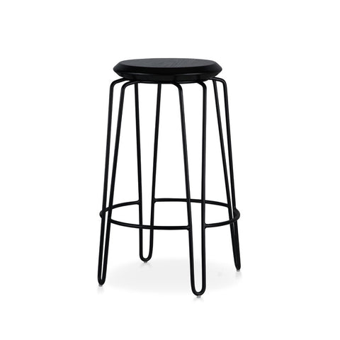 Industrial Luxe Black Hairpin Stool 650mm (Set of 2) - Workspace Luxe