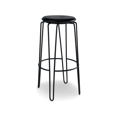 Industrial Luxe Black Hairpin Stool 750mm (Set of 2) - Workspace Luxe