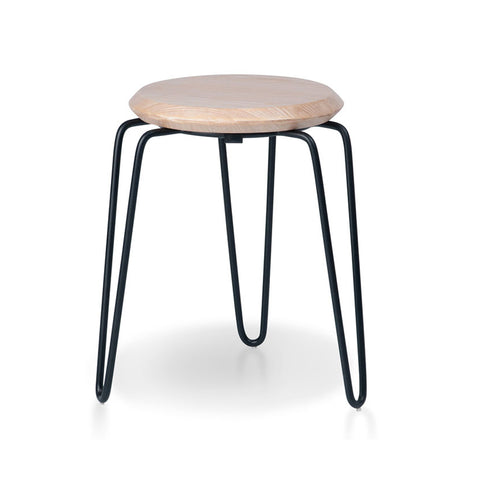 Industrial Luxe Natural Hairpin Stool 450mm (Set of 4) - Workspace Luxe