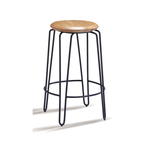 Industrial Luxe Natural Hairpin Stool 650mm (Set of 2) - Workspace Luxe