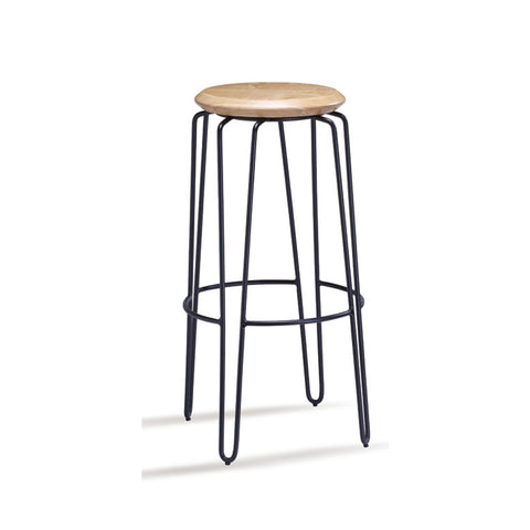 Industrial Luxe Natural Hairpin Stool 750mm (Set of 2) - Workspace Luxe