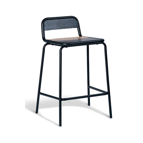 Industrial Timber Stool (Set of 2) - Workspace Luxe
