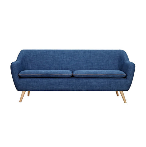 Dark Blue Luxe 3 Seater Sofa - Workspace Luxe
