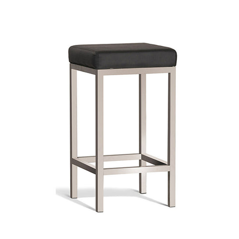 Modern Black Stool with Brush Frame 650mm (Set of 2) - Workspace Luxe