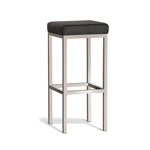 Modern Black Stool with Brush Frame 750mm (Set of 2) - Workspace Luxe