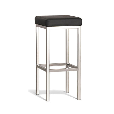 Modern Black Stool with Polish Frame 750mm (Set of 2) - Workspace Luxe