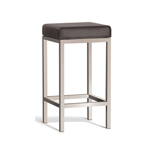 Modern Brown Stool with Brush Frame 650mm (Set of 2) - Workspace Luxe