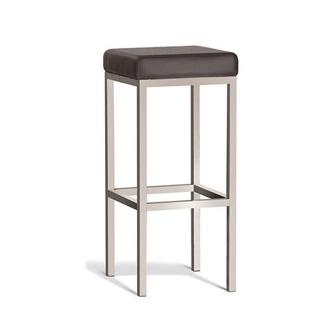 Modern Brown Stool with Brush Frame 750mm (Set of 2) - Workspace Luxe