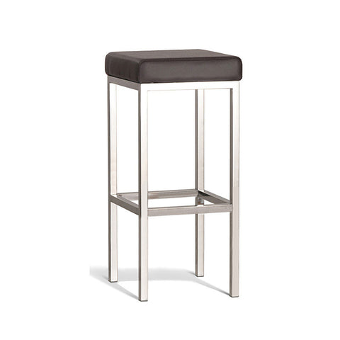 Modern Brown Stool with Polish Frame 750mm (Set of 2) - Workspace Luxe