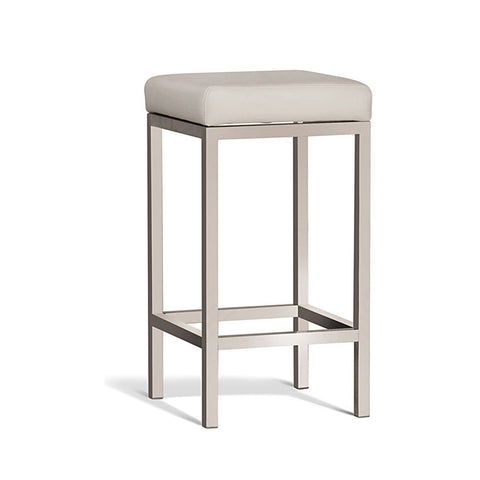 Modern Cream Stool with Brush Frame 650mm (Set of 2) - Workspace Luxe